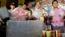 Polisi Gerebek Pabrik Miras di Mojokerto, 1 Tersangka Diamankan