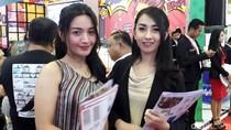 Deretan SPG Cantik di Pameran Perumahan JCC