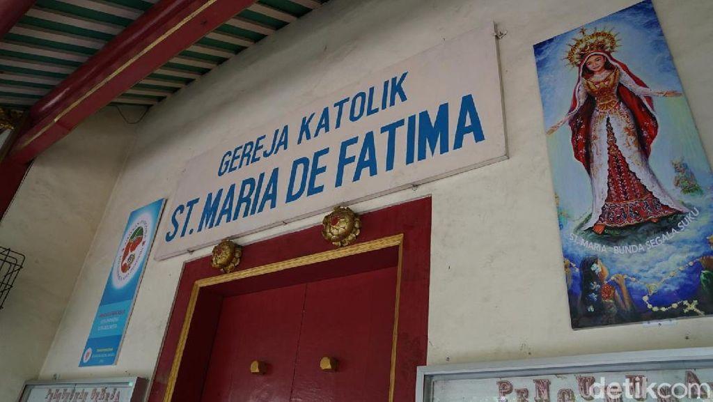 Gereja Santa Maria de Fatima, Bukti Kedermawanan Saudagar Tionghoa