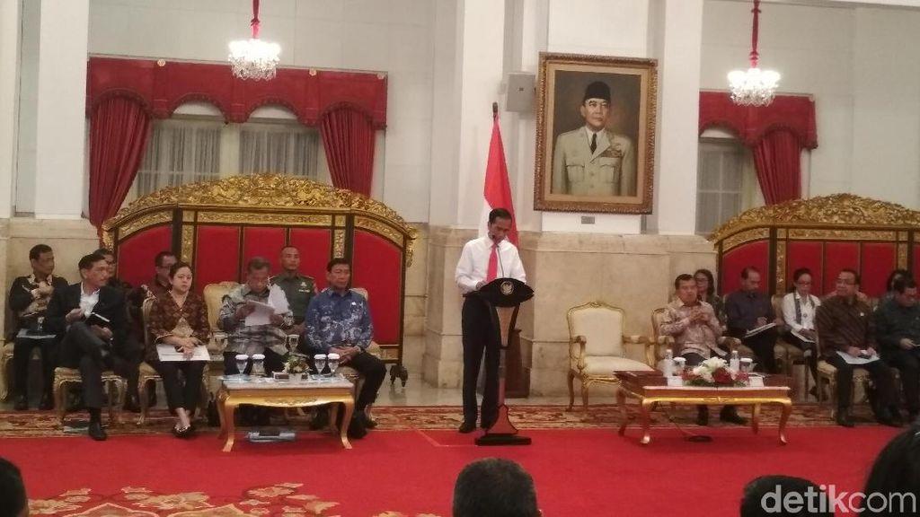 Pesan Jokowi Untuk Menteri Kebinet Kerja Saat Sidang Paripurna