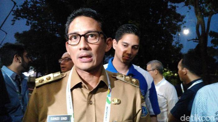 Foto: Wakil Gubernur Jakarta Sandiaga Uno (M Fida Ul Haq/detikcom)
