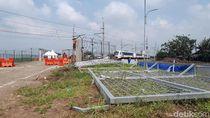 Ini Gerbang Kereta Bandara Soekarno-Hatta yang Roboh Timpa Petugas