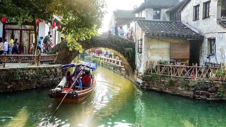 Kota Sungai Zhouzhuang (Thinkstock)