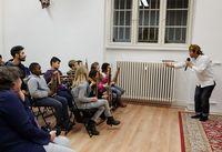 Anak-anak Jerman belajar angklung (Rima Agustine/Istimewa)