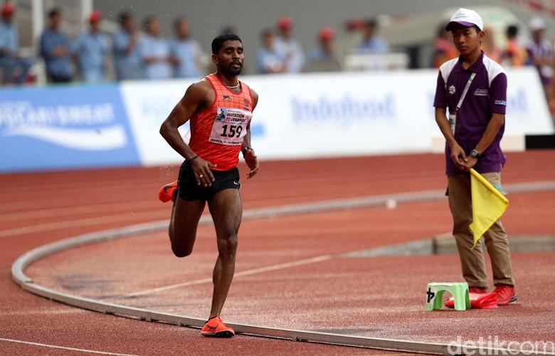 Lakshmanan Govindan Juara Lari 5.000 Meter