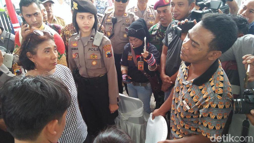 Susi Cek Pendataan Kapal Cantrang di Rembang