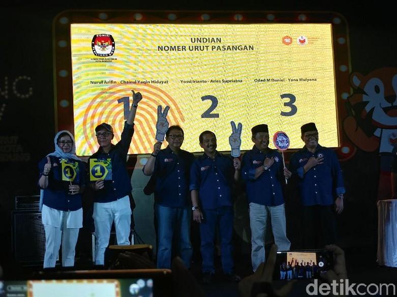 Ini Dia Nomor Urut Nurul, Yossi dan Oded di Pilwalkot Bandung