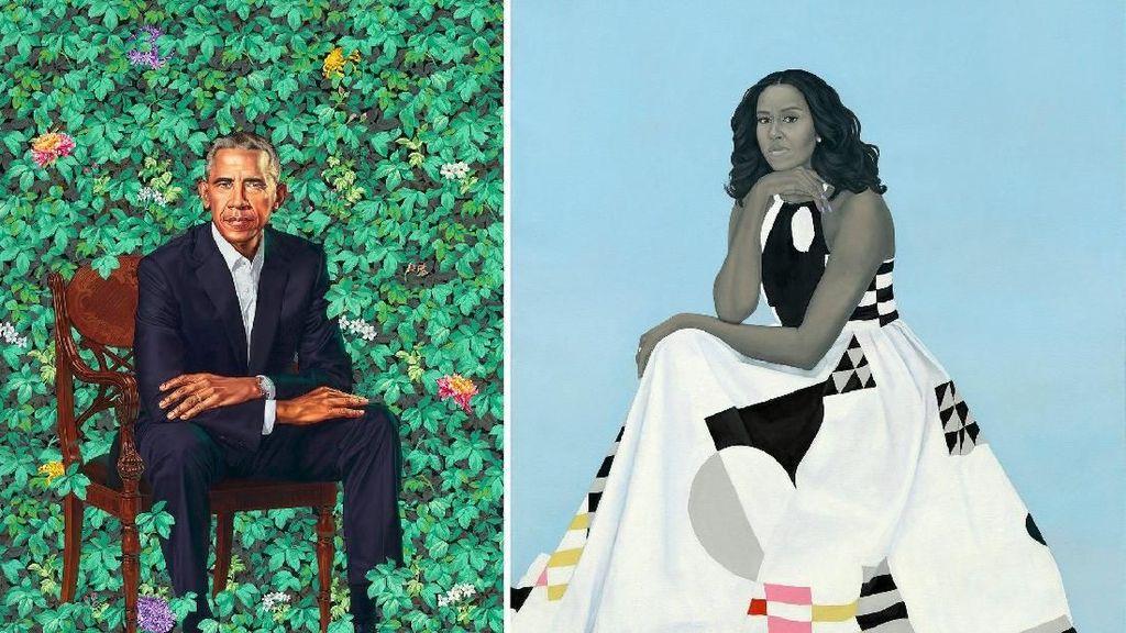 Ini Lukisan Potret Resmi dari Barack dan Michelle Obama
