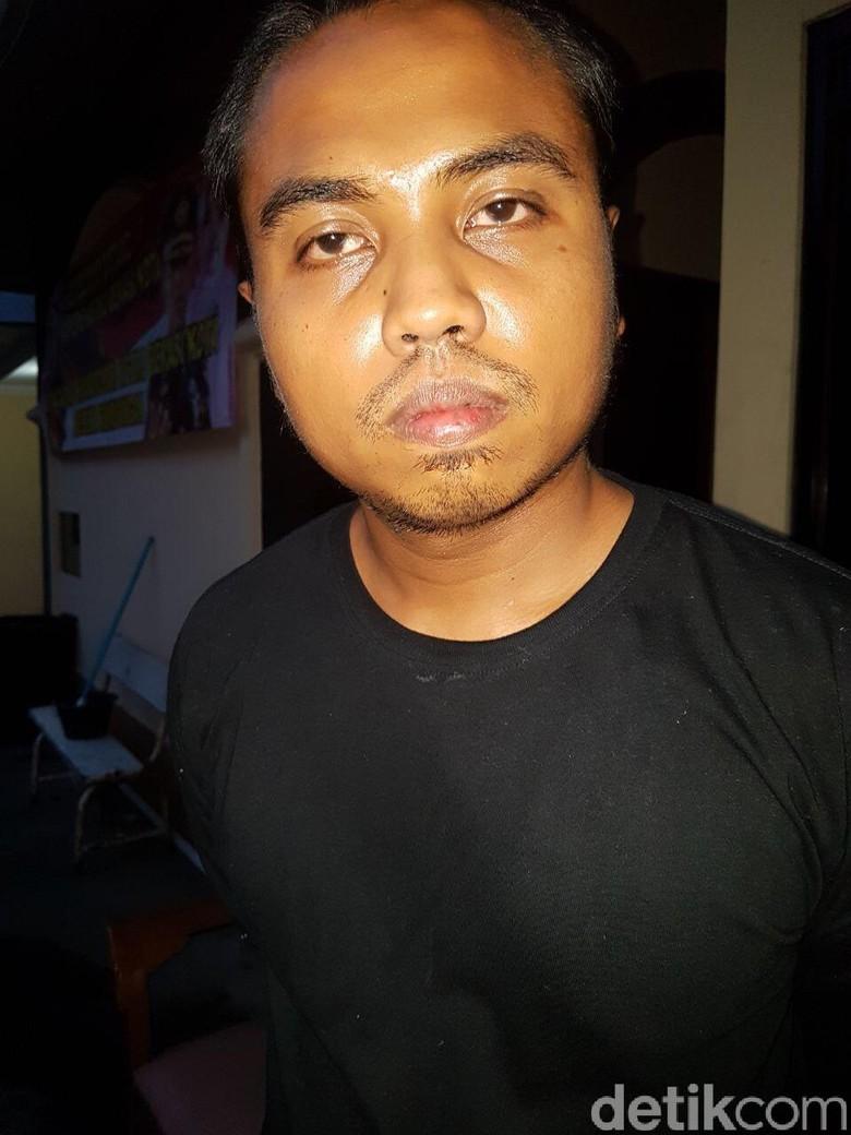 Tampang Driver Taksi Online, Tersangka Pencabulan Penumpang Dekat Bandara