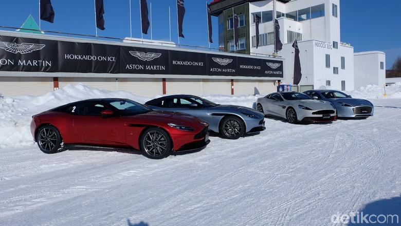 Memacu Adrenalin di Es dengan Aston Martin