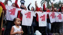 Aksi Ibu-ibu Tuntut UU PRT Disahkan