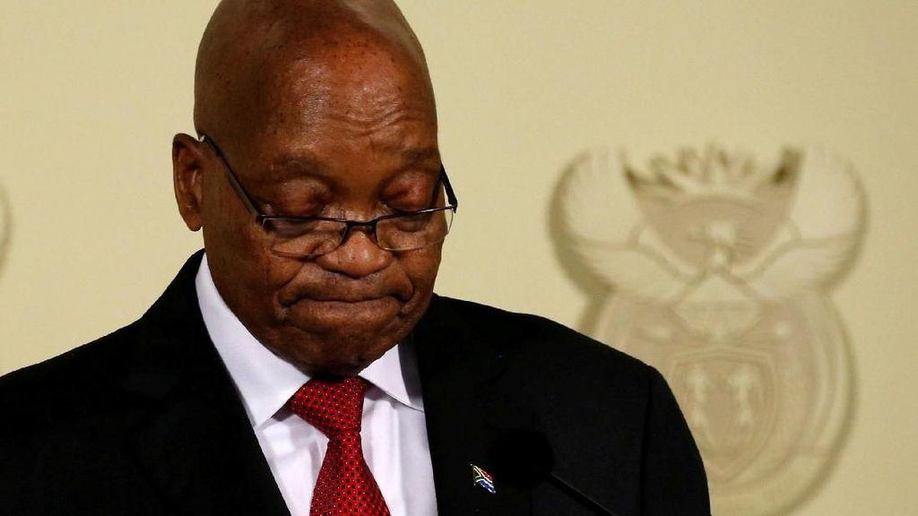 Momen Presiden Afsel Jacob Zuma Umumkan Pengunduran Diri