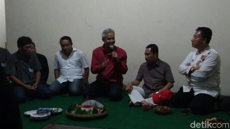 Hari Pertama Kampanye, Ganjar Resmikan Posko Pemenangan di Pati