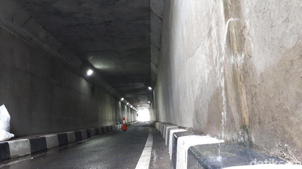 Penampakan Air Merembes di Underpass Bandara Soekarno-Hatta