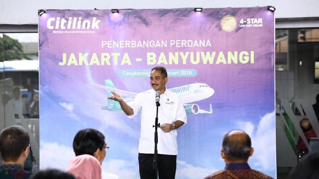 Menteri Pariwisata Senang Citilink Terbang Langsung Jakarta-Banyuwangi