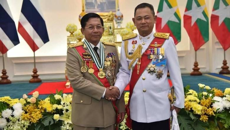 Krisis Rohingya, Komandan Militer Myanmar Terima Penghargaan Thailand