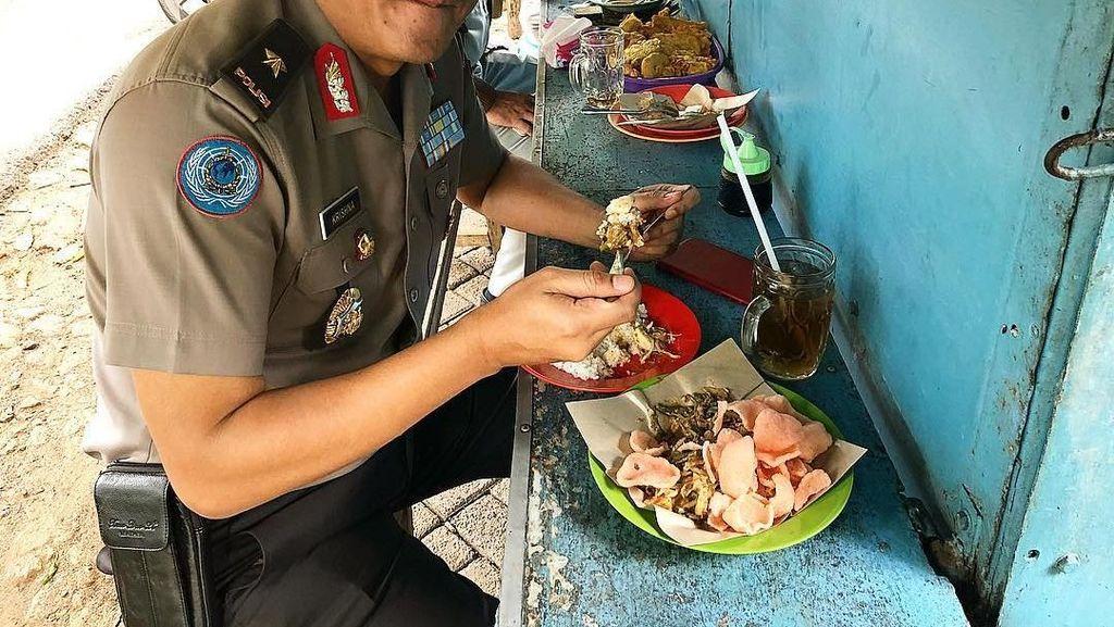 Intip Gaya Makan Sederhana Brigjen Polisi Krishna Murti