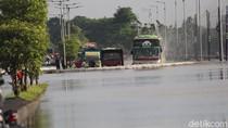Jalan Raya Porong Sidoarjo Kembali Tenggelam