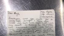 Gadis Cilik Ini Kirim Surat dan Ingin Menikahi Koki Restoran Setelah Makan Malam Bersama Keluarganya
