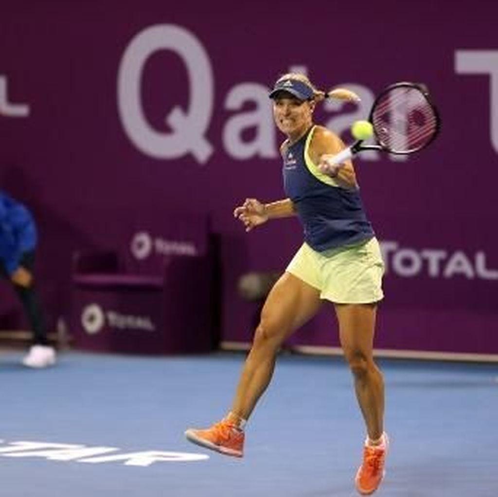 Singkirkan Konta, Kerber Jumpa Wozniacki di Perempatfinal