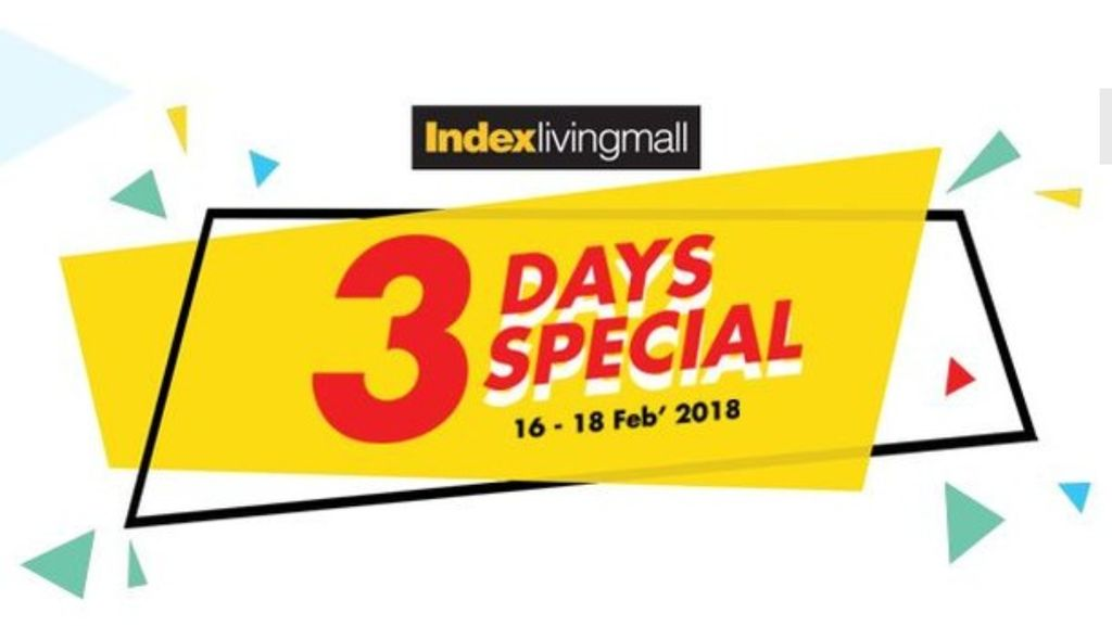 Hanya 3 Hari! Diskon Hoki di Index Living Mall