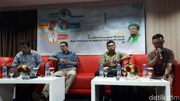 Diskusi soal kabar rencana kepulangan Habib Rizieq Syihab