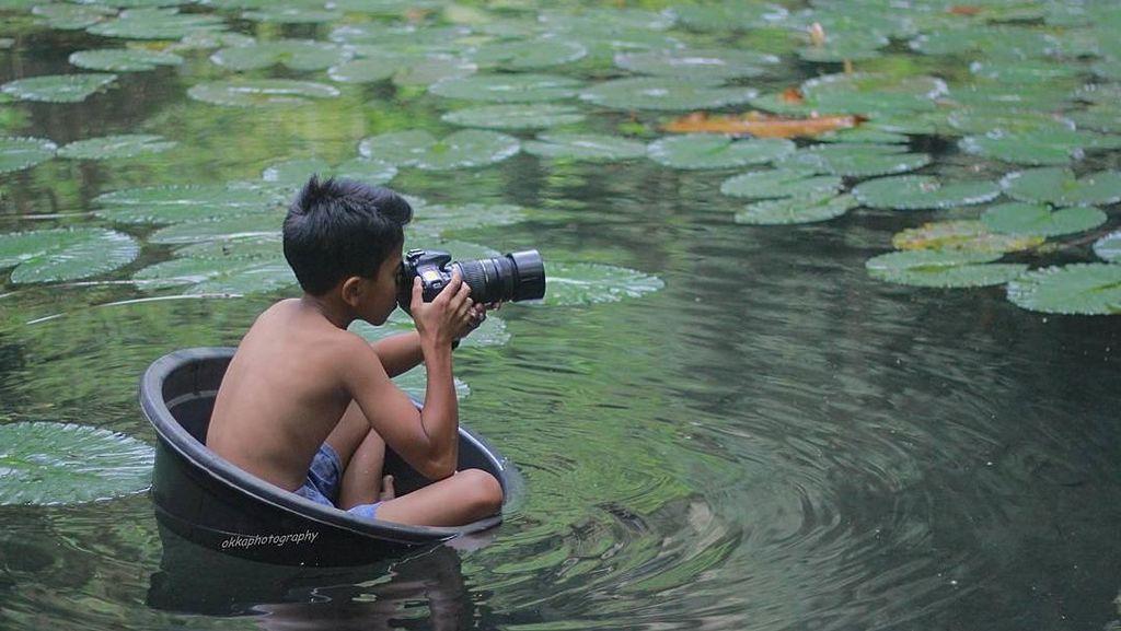 Aksi Fotografer Cilik Majalengka yang Mengundang Tawa