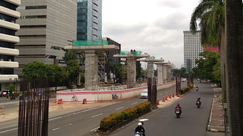 LRT Jabodebek di Rasuna Said Tak Gunakan Beton Eks Monorel