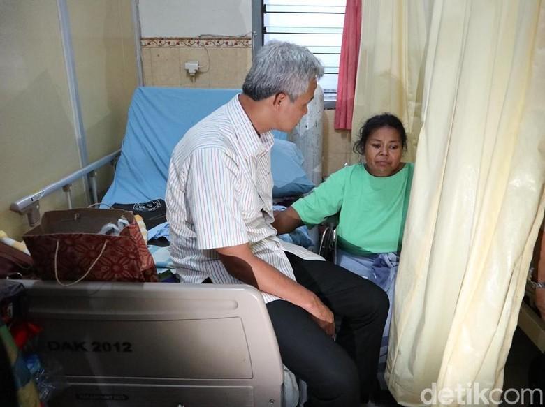 Cerita Rayyan Sendiri Rawat Ibunya Menyebar, Cagub Ganjar Menjenguk