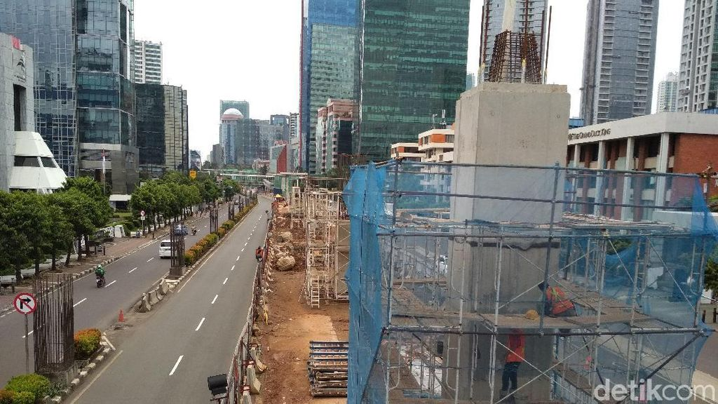 Menengok Perkembangan Proyek LRT Jabodebek di  Rasuna Said