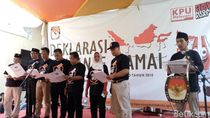 Adu Pantun Jawa Paslon Warnai Deklarasi Kampanye Damai