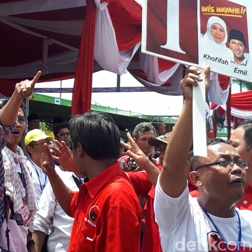 Pidato Gus Ipul-Puti Diwarnai Aksi Protes Pendukung Khofifah