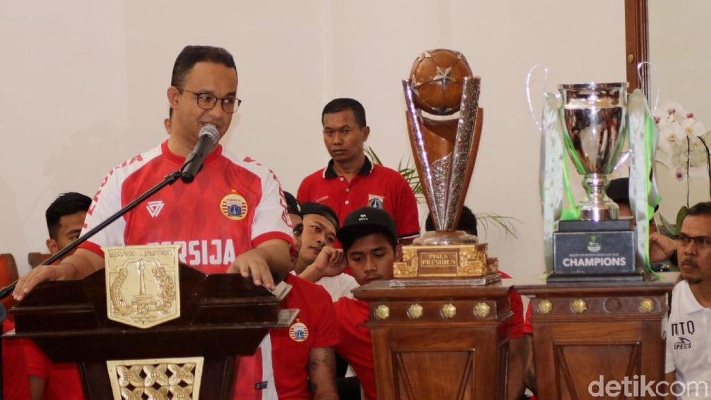 Gubernur Anies Tonton Persija vs Tampines Rovers