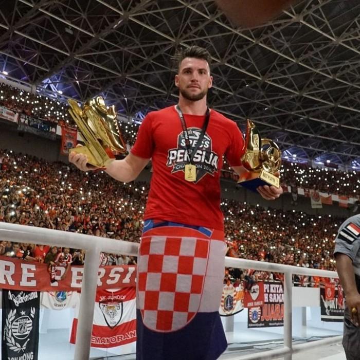 Marko Simic berhasil memberikan kemenangan untuk Persija Jakarta berkat 2 golnya ke gawang Bali United di Final Presiden 2018 kemarin. (Foto: instagram/MarkoSimic_77)