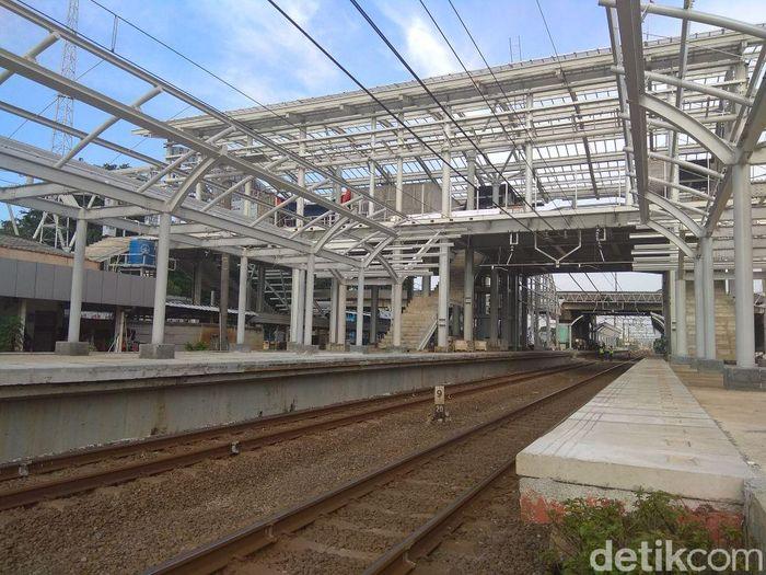 Begini penampakan terkini proyek Stasiun Cakung, Minggu (18/2/2018).