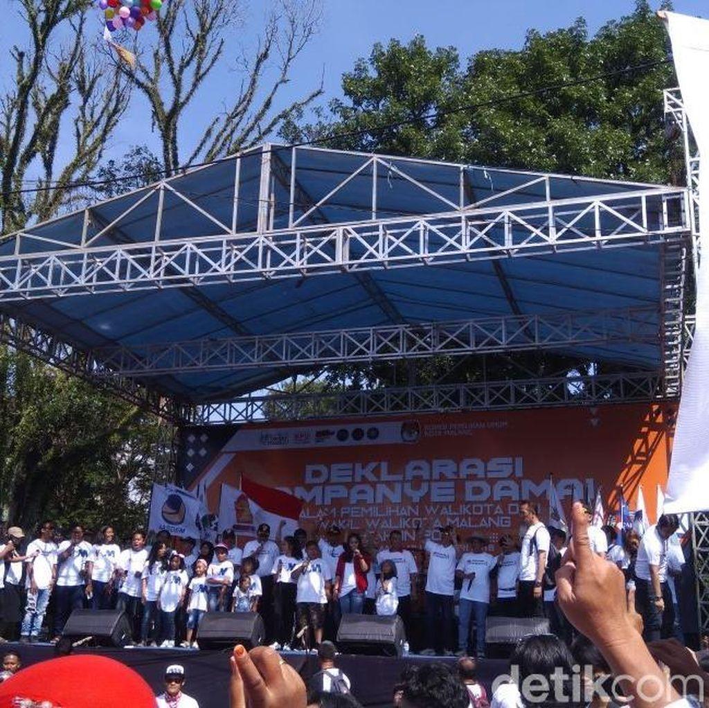 Deklrasi Kampanye Damai, Ini Imbauan Tiga Paslon Pilwali Malang