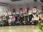 Momen Prabowo, Mega, hingga Tommy Pamerkan Nomor Urut Pemilu 2019