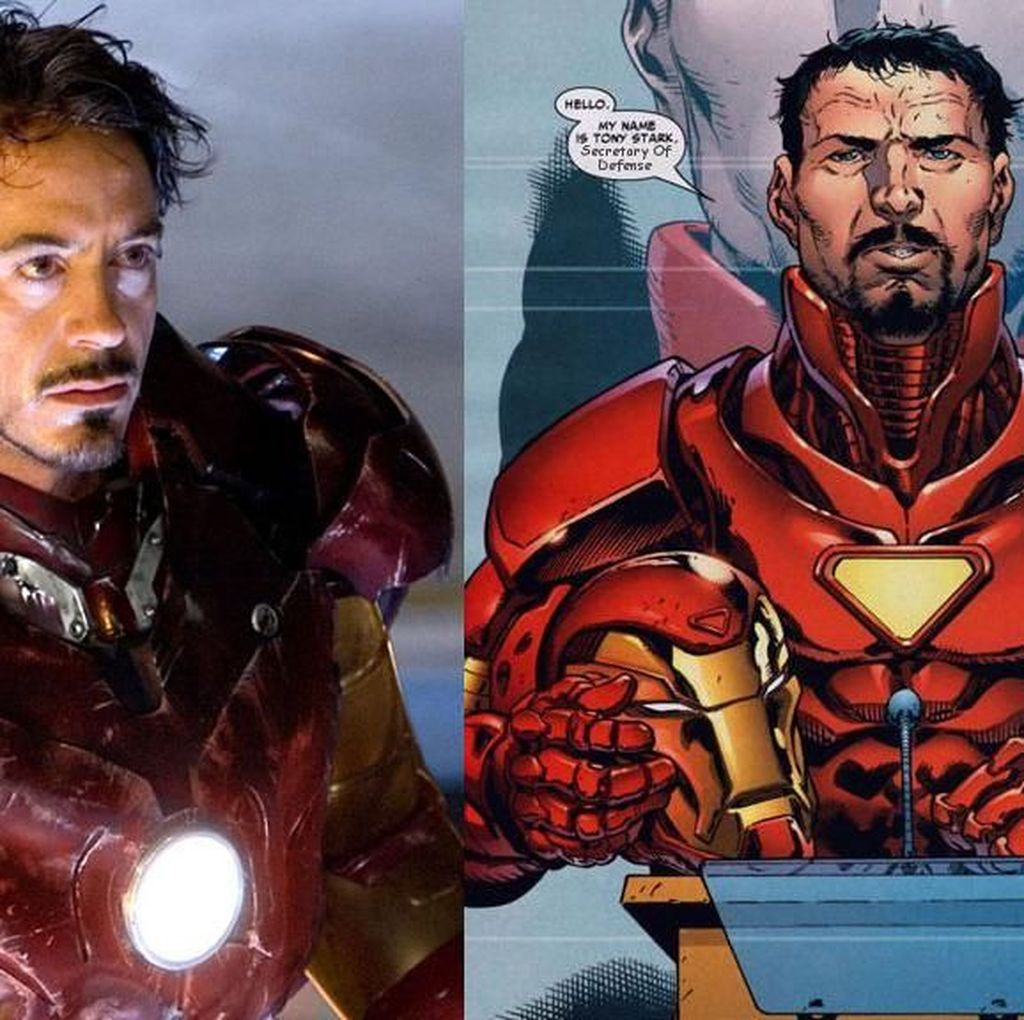 Perbandingan Wujud Superhero Tenar di Film vs Komik