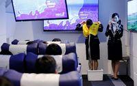 Seperti naik pesawat sungguhan (Toru Hanai/Reuters)