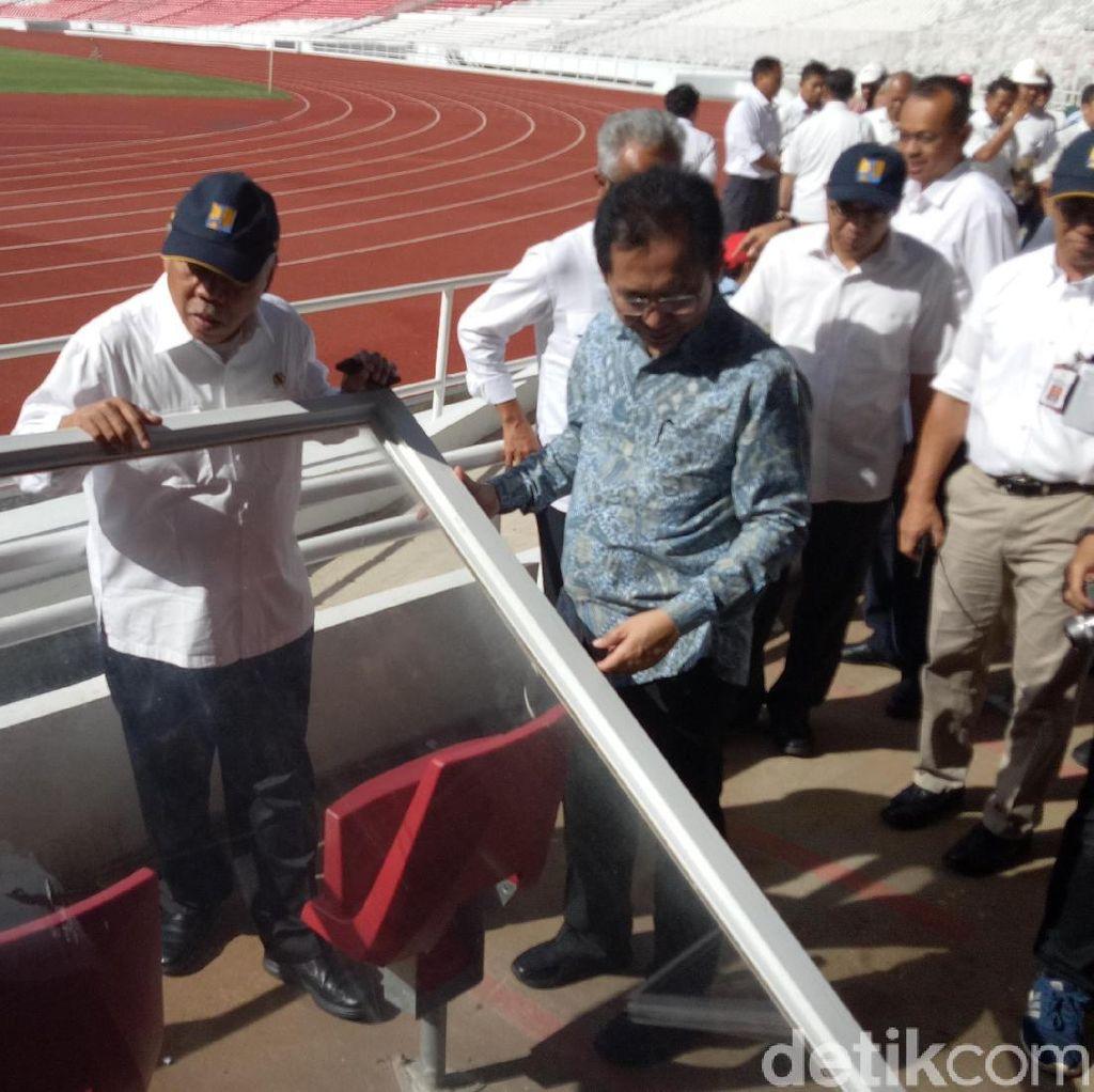 Tinjau GBK, Menteri Basuki: Ini Dibangun Pakai Pajak Kok Dirusak?