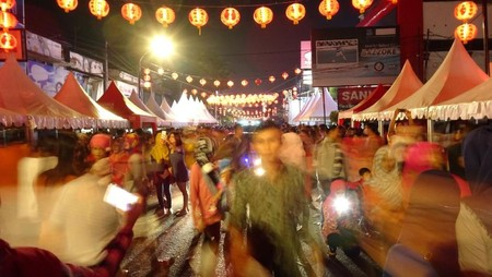 Suasana Perayaan Imlek di Kota Mataram