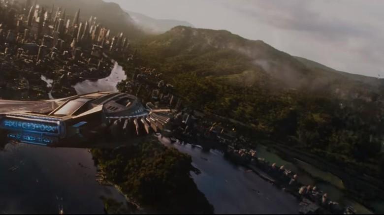 Foto: Salah satu adegan di film Black Panther (Marvel)