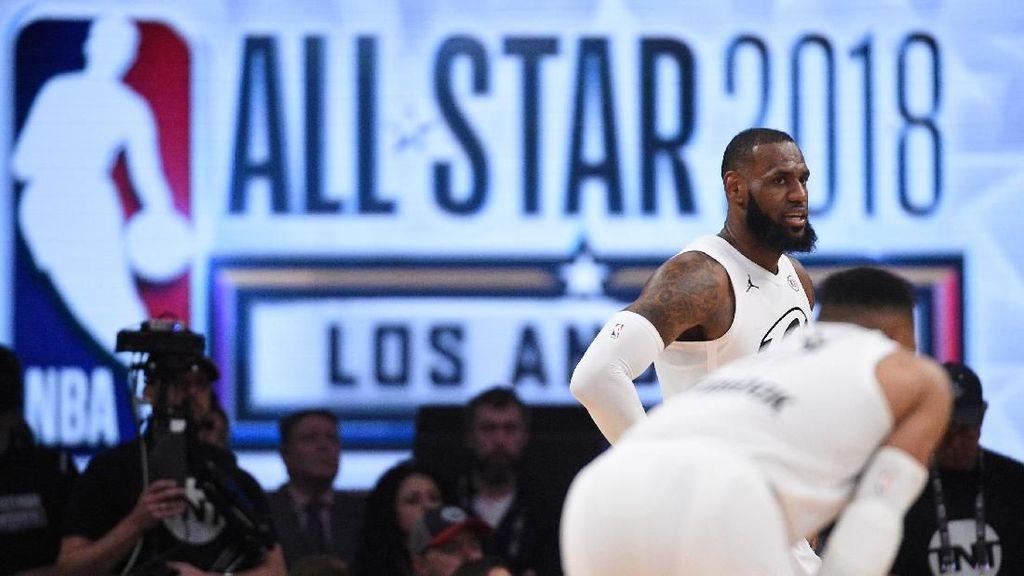 Foto: Seru, LeBron cs Kalahkan Curry dkk di NBA All Star 2018