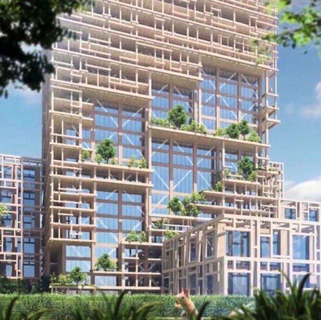 Foto: Ini Konsep Gedung Pencakar Langit Tertinggi di Dunia dari Kayu