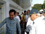 Ekspresi Menteri Basuki Saat Lihat Kerusakan GBK