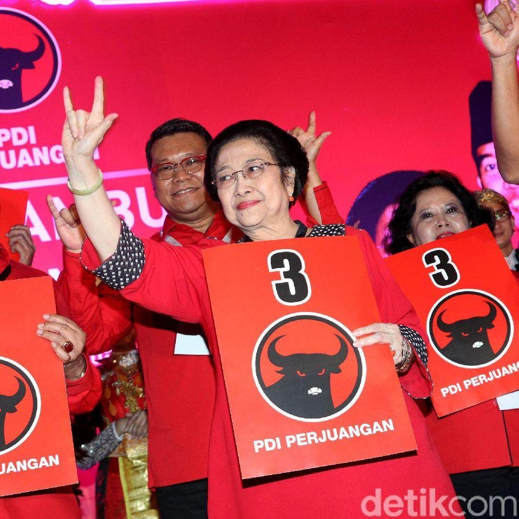 Megawati: PDIP Nomor 3, Metal!