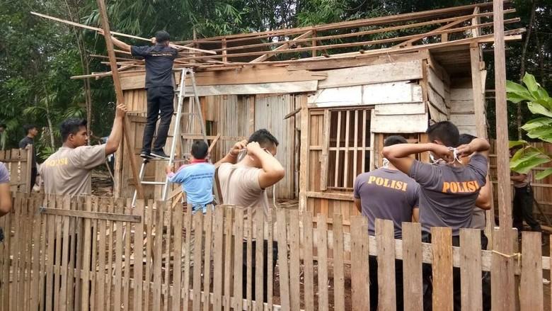Mulai Dibedah, Rumah Kayu Rahma Bocah Tangguh Segera Berganti Rupa