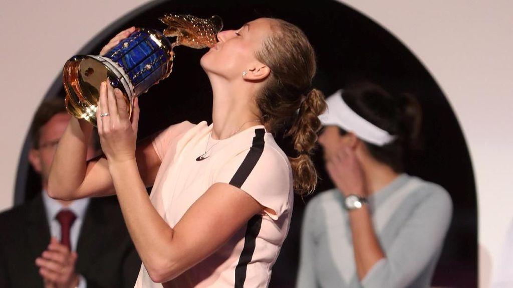 Kvitova Juara Usai Kalahkan Muguruza dalam Tiga Set