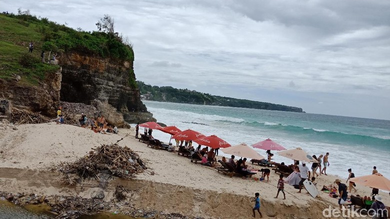 Potret Pantai Dreamland kini (Masaul/detikTravel)