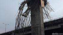 Kapolres: Tiang Becakayu Ambruk Diduga karena Bracket Kurang Kuat